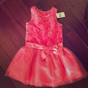 Pink sequence dress